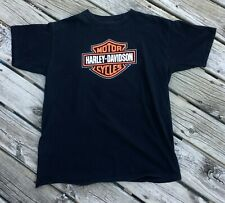 Harley Davidson T-shirt Yellowstone Belgrade Montana HD Emblem Black XL Flaw