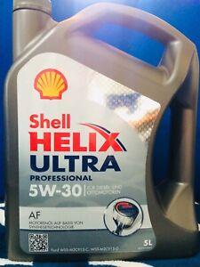 5L Olio Shell 5W30 Helix Ultra Professional AF 5 Litri audi fiat ford