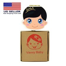 Vavvy Baby Tooth Box for baby milk teeth -Tooth Fairy Box- Baby Girl Brunette