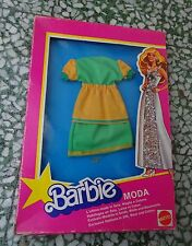BARBIE  MODA  TENUTA ABITO OUTFIT 70's MIB NEVER PLAYED MATTEL silk wool cotton