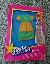 BARBIE  MODA  TENUTA ABITO OUTFIT 70's MIB NEVER PLAYED MATTEL silk wool cotton