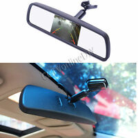 """Car Interior Rear View Mirror with 4.3"""" LCD Monitor + Special Bracket 2CH Video"""