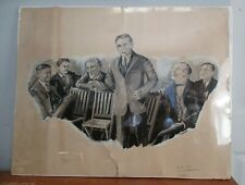 1922 JOHN FLEMING GOULD Signed Original Illustration Art
