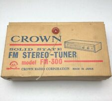Vintage Crown Model Fm – 300 Fm Stereo Tuner In Box Made In Japan