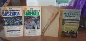 4 Baseball Paperback Books 1956 Almanac Plus 1971 , 1984 , 1985 Handbooks
