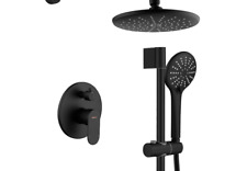 Shower System, Wall Mounted Slide Bar Shower Faucet Set for Bathroom with Hig