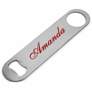 Personalised Any Name Stainless Steel Bottle Opener, Cocktail Flair Speed Opener