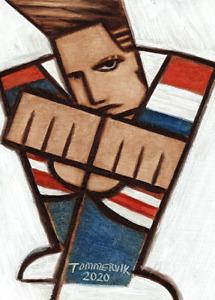 vanilla ice Painting 90's Retro Pop Art Cubist Artwork Original Art Nostalgic