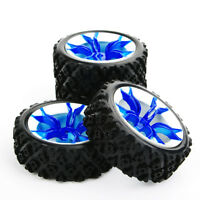 4X 73mm Rubber Rally Tires&Wheel 12mm Hex For HSP HPI RC 1:10 Off Road Car MPNWB