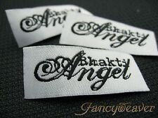 200pcs Custom Lettering Clothing Woven Damask Labels