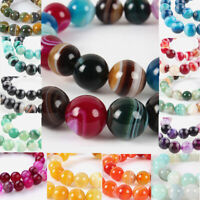 38pcs Natural Gemstone Agate Round Beads Mini Smooth Loose Spacer 10mm 14.96""