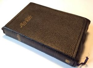 Holy Bible, 1905, Oxford, British & Foreign Bible Society, Diamond 16mo. Refs