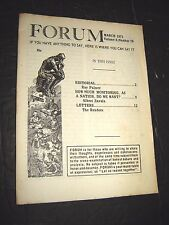 Ray Palmer's forum NEWSLETTER MARCH 1971 FLYING SAUCERS UFO'S Paranormal Occult