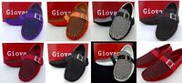 Men's GIOVANNI faux suede loafers slip on shoes White Pu Orange Red Black M15-3
