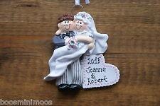 Personalizzata Famiglia 1st Christmas / Xmas Decorazione-Topper sposa e sposo NEWLYWEDS,