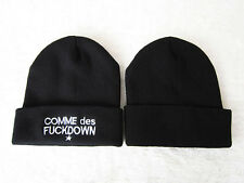 NEW STAY CLASSY  EMBROIDERY BEANIE SKULL CAP COMME DES FUCKDOWN  HAT BLACK