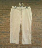 Sportscraft Womens Brown Capri Pants 12 Adjustable Waist Stretch 3/4 Cropped