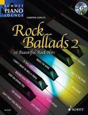 Rock Ballads 2 Schott Piano Lounge Book & Cd