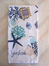 Sea Shells Kitchen Terry Towel Kay Dee Blue Shells Pattern
