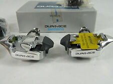 Dura Ace Pedals 7410 W Cleats Clipless Shimano Vintage Road Racing Bicycle NOS