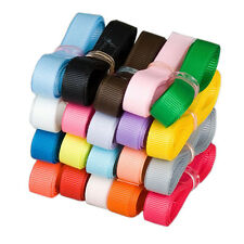 """Free shipping 20YDS 3/8"""" 9mm Mixed 20 style  craft solid Grosgrain ribbon Lot"""