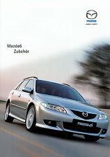 Prospetto MAZDA 6 ACCESSORI 1.6.02 2002 brochure broschyr auto PKW Giappone Asia