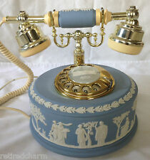 ❤️WEDGWOOD JASPERWARE ASTRAL TELEPHONE RARE ROTARY DIAL BLUE 1986❤️