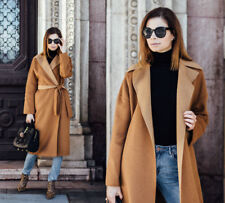 f3acf98e ZARA CAMEL WOOL COAT WITH BELT HAND MADE OVERSIZED MEDIUM M UK 10 EU 38 US