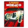 Letrero Metal Placa de pared Mónaco Grand Prix GP 1930 Retro Vintage