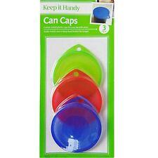 3 X roja verde azul puede comida para mascotas de estaño Cubierta Tapas Estándar Montaje Reutilizable fresco