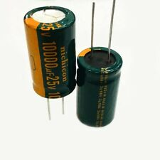 2PC 10000uF 25V High Frequency Radial Electrolytic Capacitors NICHICON 18X35mm