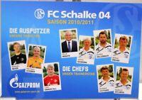 Postkarte Fußball + FC Schalke 04 + Ausputzer und Chefs Saison 2010/2011 #190421