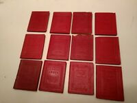 Little Leather Library LOT 12 classics red Haas editions,Longfellow, Poe, etc.