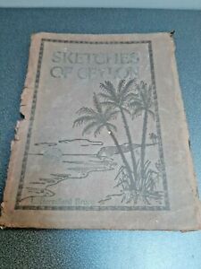 sketches of ceylon L BERESFORD BRUCE Sri Lanka. India. SERIES OF 2 X 6 1910