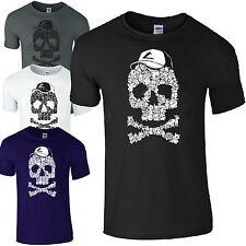 Pokemon Skull & Crossbones T-Shirt Men's Unisex Loose Fit Casual T-Shirts
