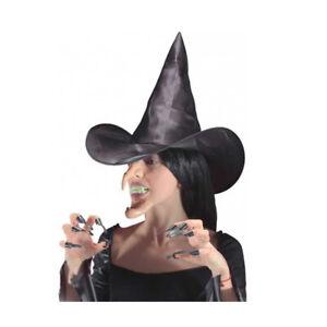Set cappello - naso - mento e unghia da strega