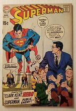 SUPERMAN #219 (DC COMICS 1969) VF- 7.5 HIGH GRADE SILVER-AGE SUPERMAN COMICS!