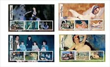 2017 PABLO PICASSO ART PAINTINGS  8 SOUVENIR SHEETS MNH UNPERFORATED