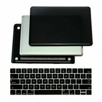 Black Plastic Hard Case Shell for Apple MacBook Air Pro 13 inch + Keyboard Cover