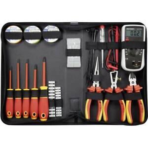 TOOLCRAFT 1177223 Elektriker Werkzeugset in Tasche 50teilig