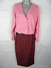Womens M&S Dusky Pink Top, Size 8, V Neck Drape Pleat, Long Sleeve, Smart