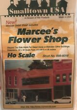 NEW HO Scale Small town USA Building Kit #699-6016 Marcee's Flower Shop • Sealed