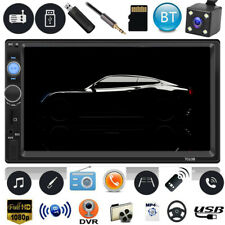 "7"" Double 2Din Car Stereo MP5 Player BT AUX USB FM Radio Head Units In-Dash +Cam"