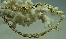 18 Karat Armband 750-er Gelbgold Kinderschmuck  Mond Gold Neu 15 cm