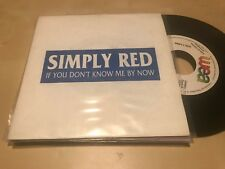 """SIMPLY RED SPANISH 7"""" SINGLE SPAIN IF YOU DON'T KNOW ME WEA 89 SAME SIDED PROMO"""