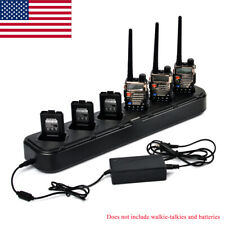 HYS Six Way Universal Rapid Multi Charger For Pofung BAOFENG UV-5R Two Way Radio