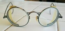 Vintage Antique Folding Safety Goggles Glasses Steampunk Welding Motorcycle