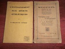 """lot de 2 livres sports """" terminologie gymnastique """" et """" athlétique  ( ref 16 )"""