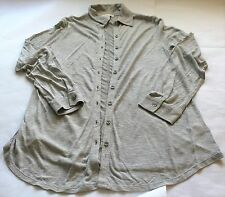 Coldwater Creek Long Sleeve Silver Gray Knit Cardigan~XL~Viscose~Lightweight
