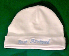 Personalised embroidered new born baby beanie